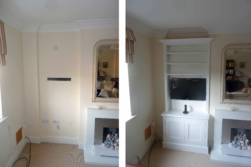 Painted Alcove Cupboards