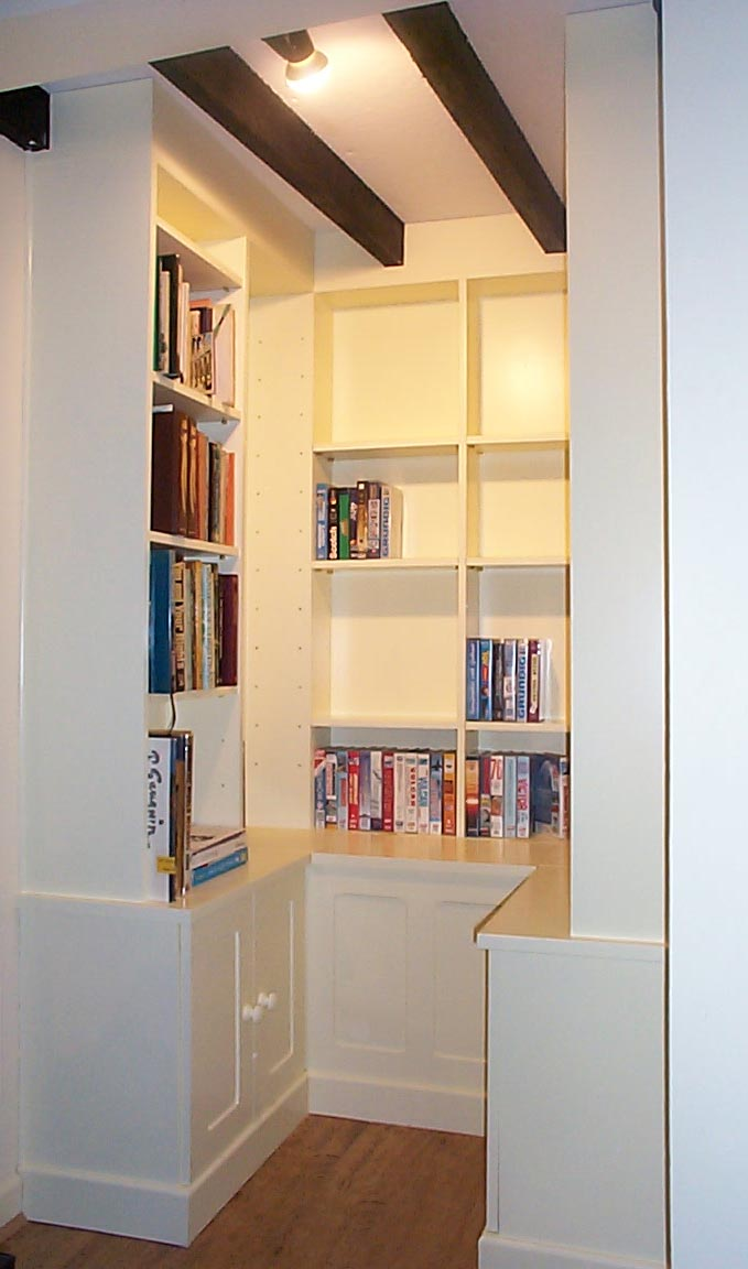 Deep Alcove Cupboards and Shelving